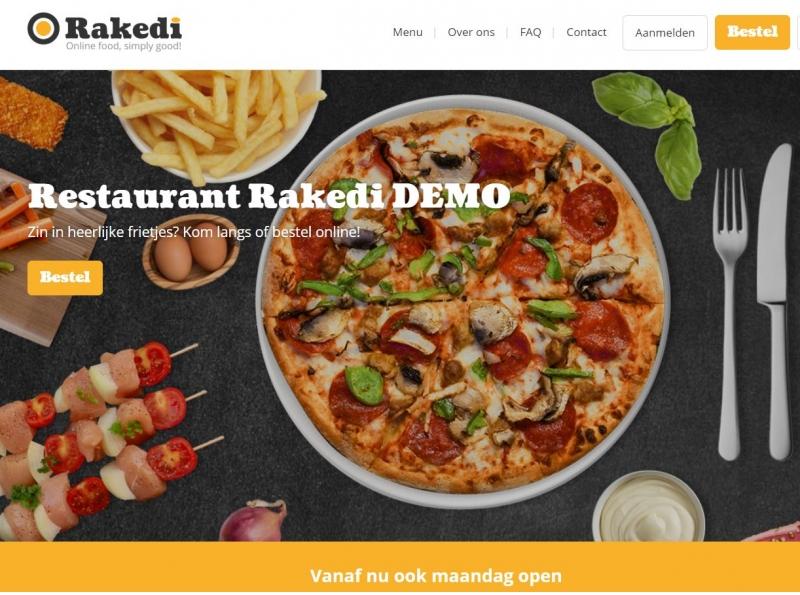 Gratis Rakedi online foodordering demo!