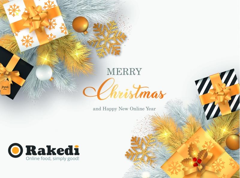 Prettige feestdagen vanwege het Rakedi team!