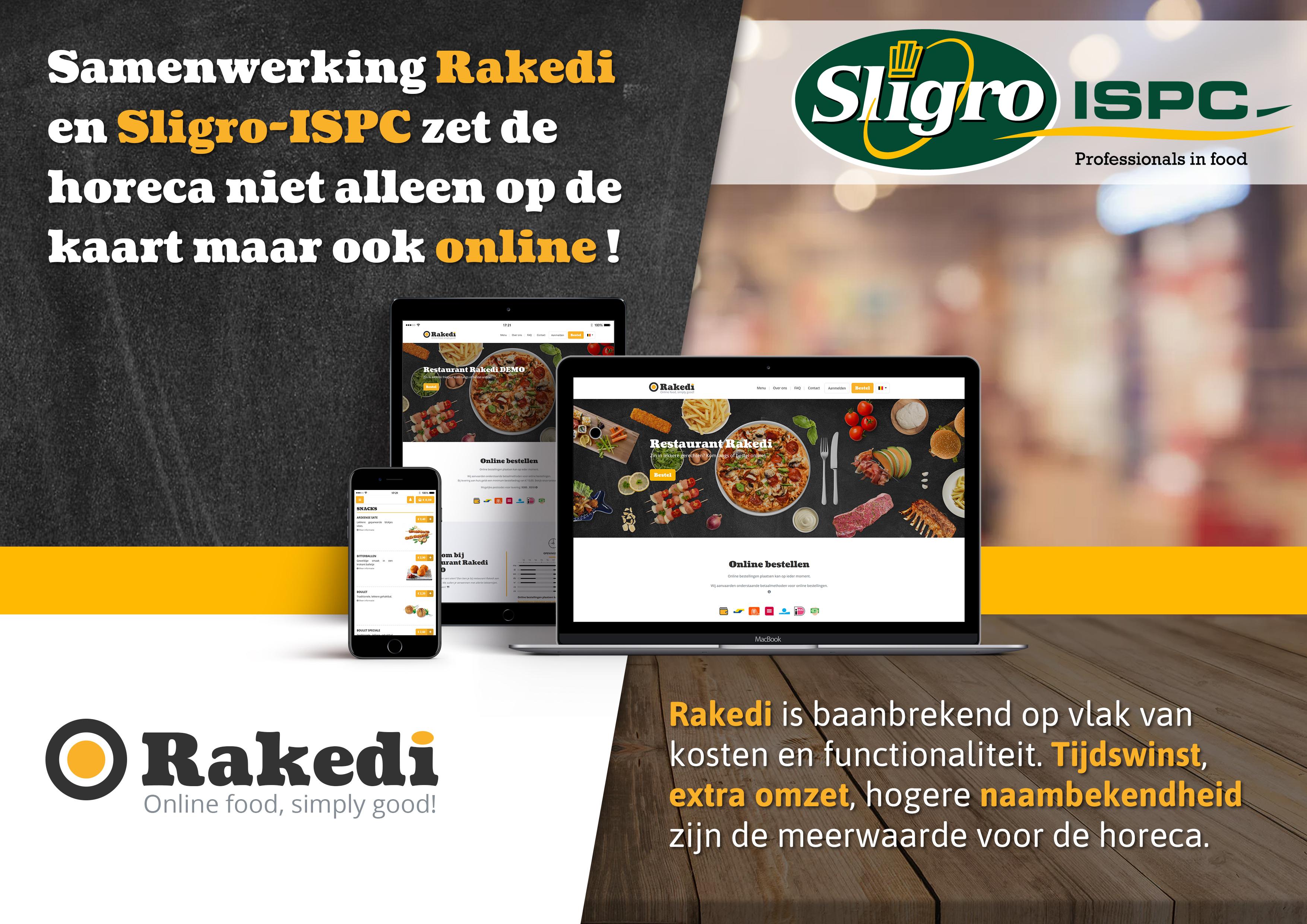Sligro-ISPC en Rakedi zetten partnership op