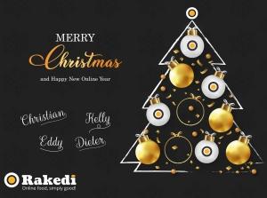Fijne feestdagen vanwege het Rakedi team!